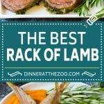 This rack of lamb is coated with garlic and fresh herbs, then roasted in the oven until tender and juicy.