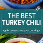 Turkey Chili Recipe #turkey #chili #dinner #dinneratthezoo