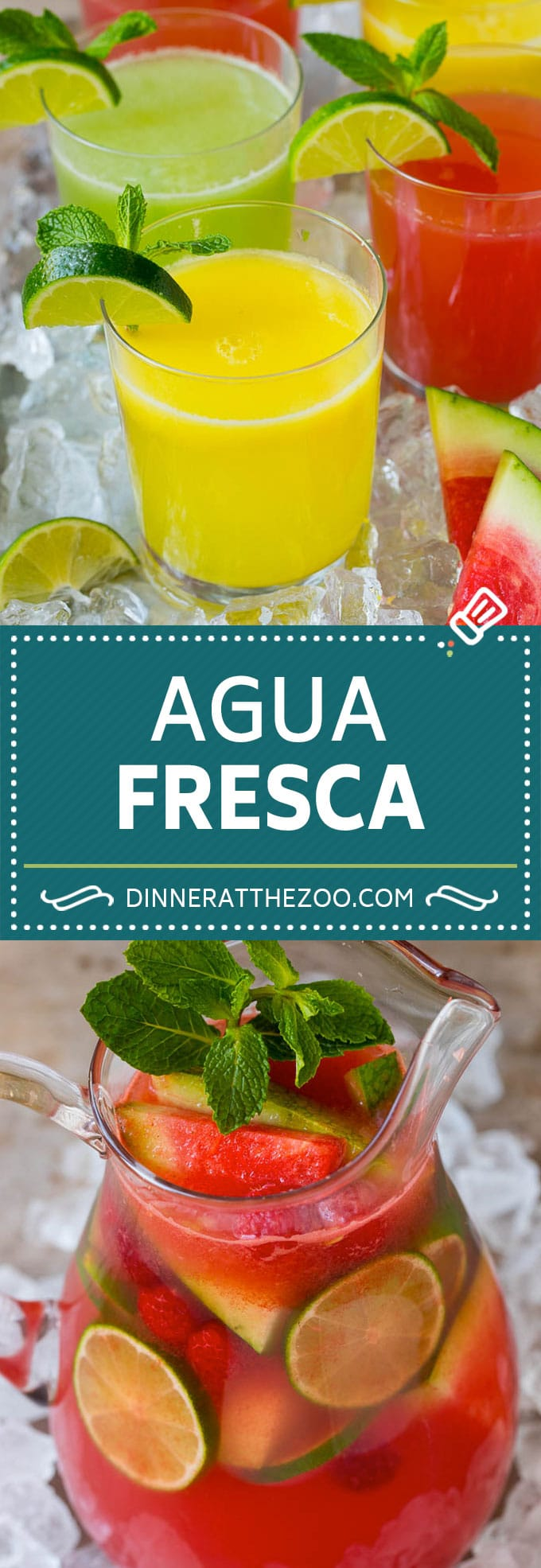 This agua fresca recipe is a basic formula to produce a perfect Mexican style fruit drink every time!