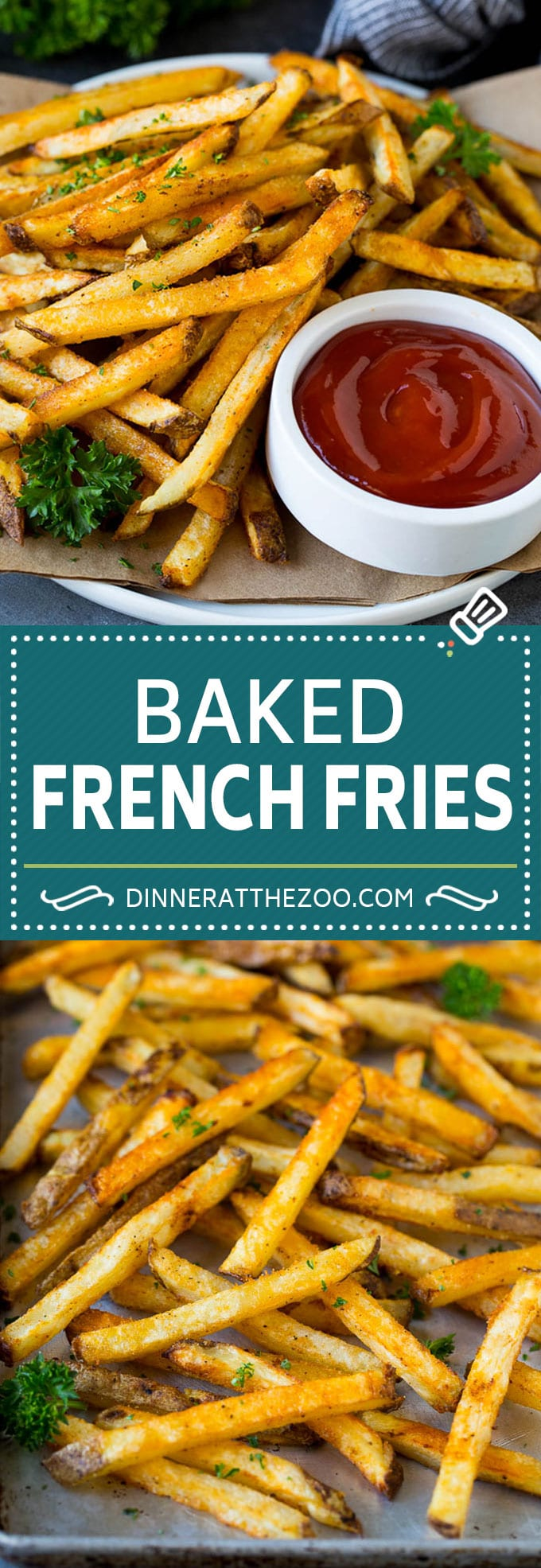 Baked French Fries Recipe #potatoes #fries #dinner #dinneratthezoo