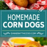 Homemade corn dogs are so easy to make and are even better than what you'd get at the fair!