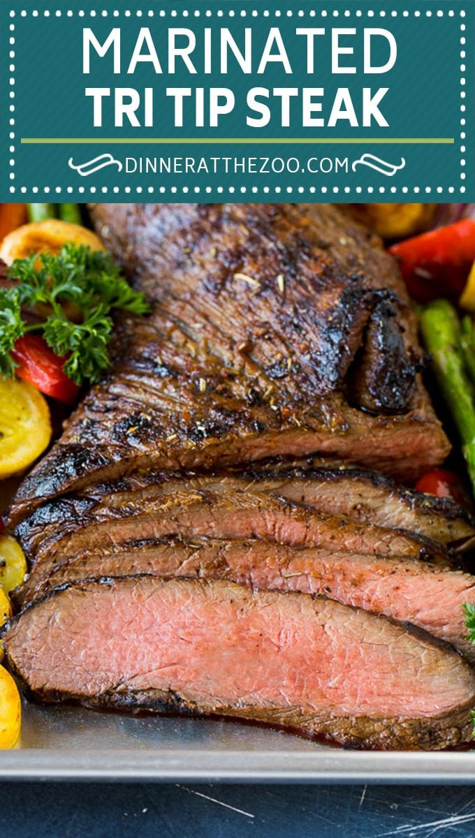 The best tri tip marinade for perfectly tender beef every time! #beef #dinneratthezoo