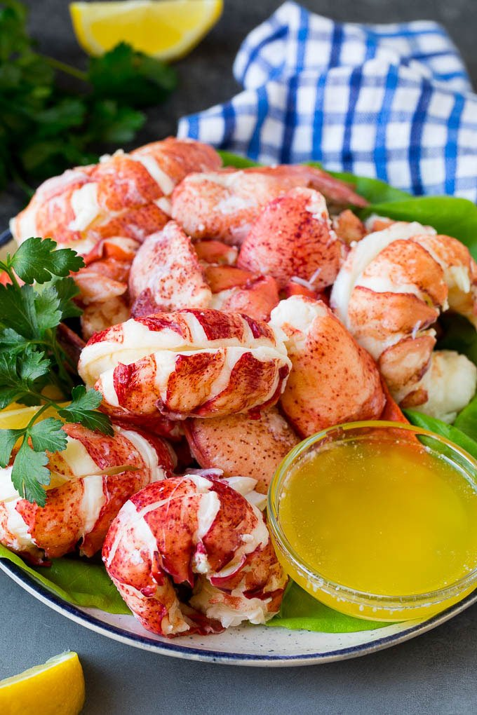 How to cook a lobster. shell it and serve it with melted butter.