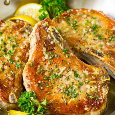 Baked Pork Chops with Garlic Butter