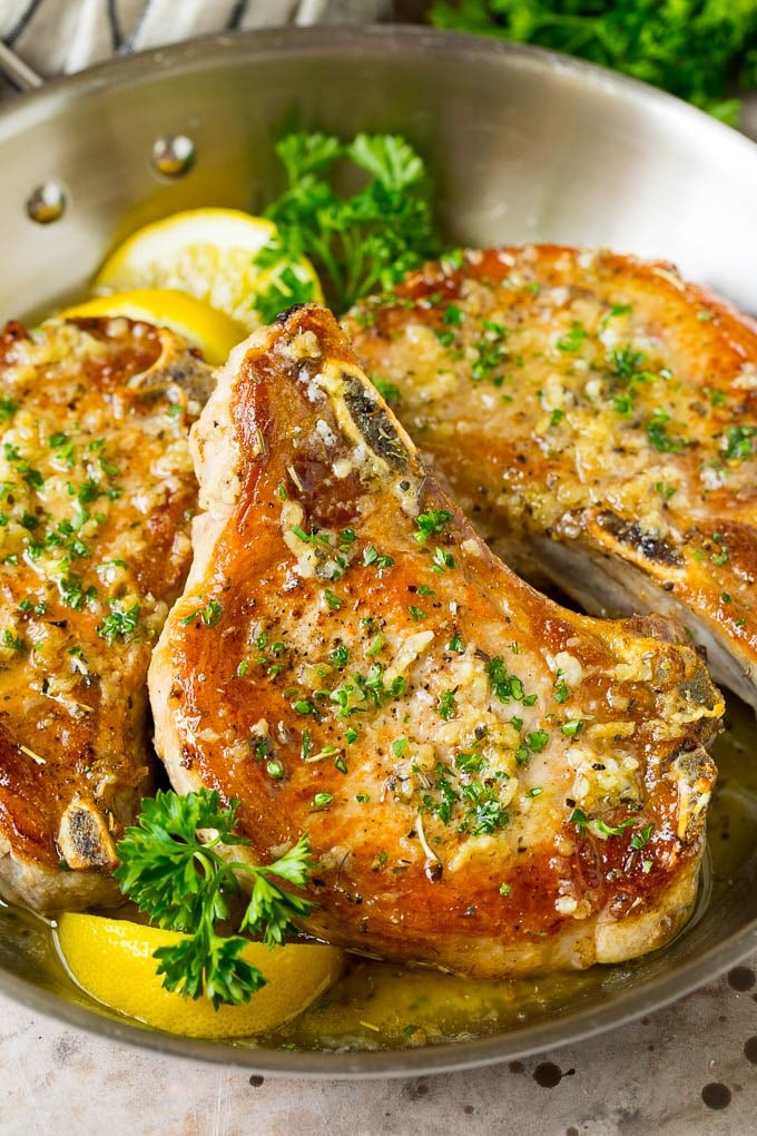 Baked Pork Chops With Garlic Butter Dinner At The Zoo