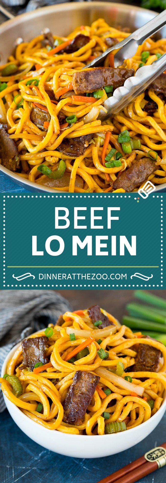 This beef lo mein is stir fried steak and vegetables tossed with egg noodles in a savory sauce.
