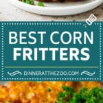 These crispy corn fritters are easy to make and are the perfect appetizer or lighter main course. #corn #dinneratthezoo