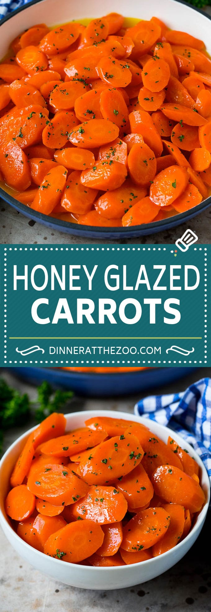 These honey glazed carrots are the perfect easy side dish option.
