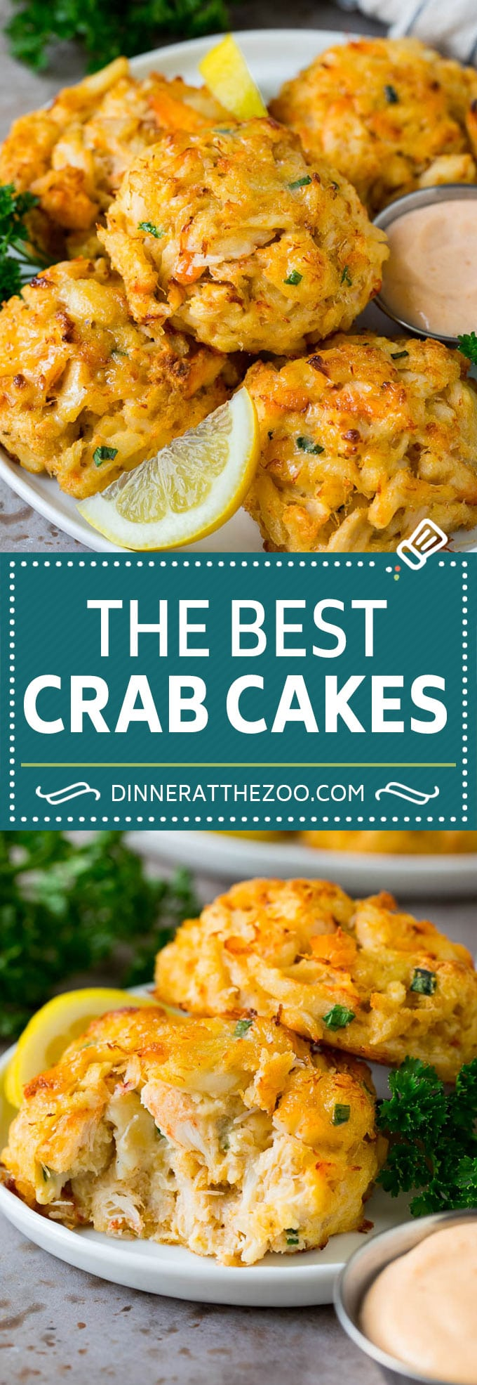 These Maryland crab cakes are fresh crab combined with seasonings and cracker crumbs, then baked to make an easy yet elegant appetizer or main course.