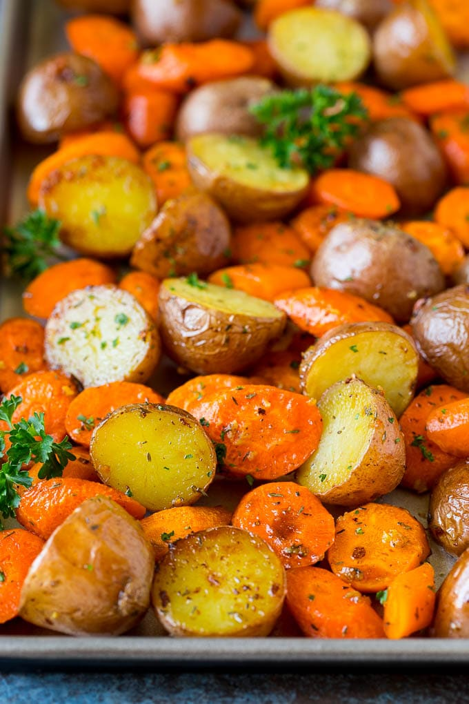 Roasted Potatoes And Carrots Dinner At The Zoo