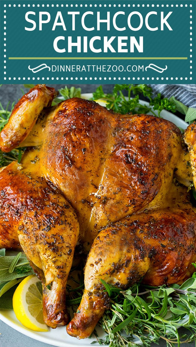 This spatchcock chicken is tender, juicy and cooks quickly, the perfect easy dinner!