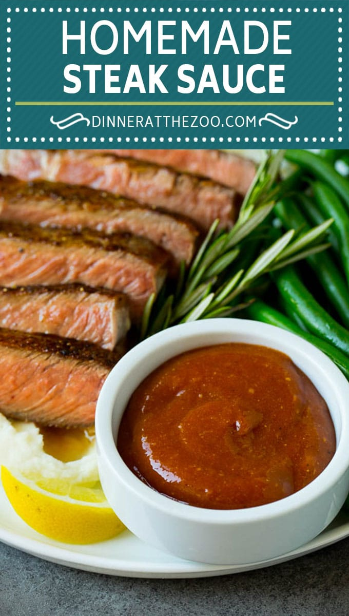 Homemade steak sauce is a savory blend that takes just 5 minutes to make and goes perfectly with beef, chicken and pork.