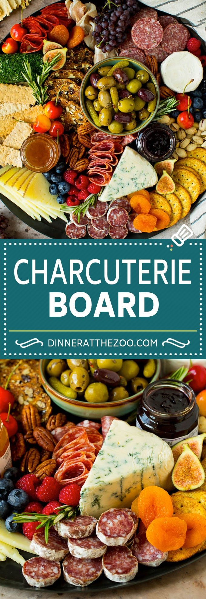 A complete guide on how to put together the best charcuterie board, with a selection of meats, cheeses, crackers, fruit, veggies and other snack foods.