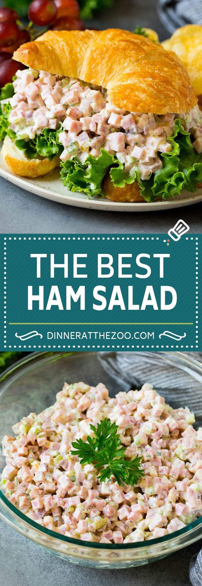 This ham salad is a blend of finely diced ham, mayonnaise, veggies and seasonings, all mixed together to form a savory and creamy salad.