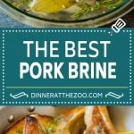 This pork chop brine is a blend of salt, sugar, herbs and spices that infuses the meat with flavor and helps to keep it tender and juicy.