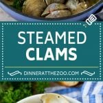 This steamed clams recipe is fresh shellfish cooked with garlic, butter, herbs and lemon.