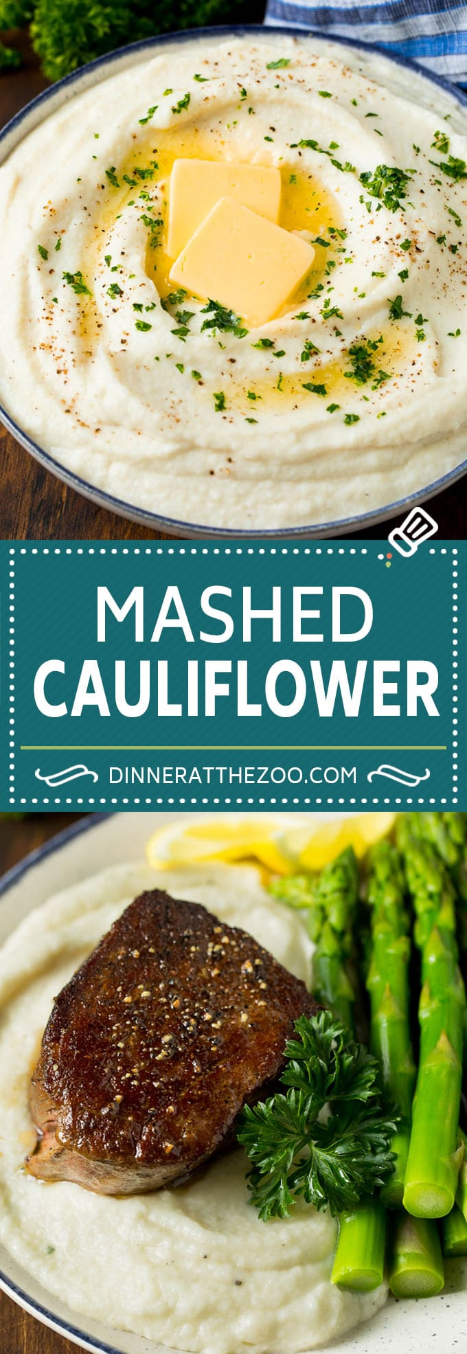These cauliflower mashed potatoes are mixed with butter, cream and seasonings to make a super delicious side dish that's low in carbohydrates.