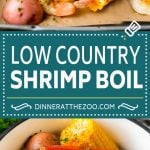 This Low Country Boil is a blend of shrimp, crab, sausage, corn and potatoes, all cooked together to create a hearty dinner.