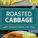 This roasted cabbage recipe is wedges of cabbage seasoned with olive oil and spices, then oven baked until tender and browned.