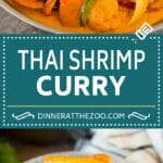 This shrimp curry is plump shrimp and colorful vegetables, all simmered together in a coconut red curry sauce.