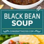 This black bean soup is a zesty blend of beans and vegetables, simmered together to make a thick and hearty meal.