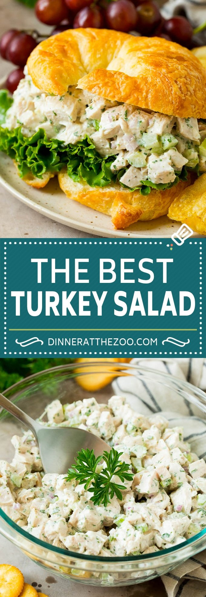 This turkey salad is a blend of diced turkey and colorful veggies, all tossed in a savory creamy dressing.