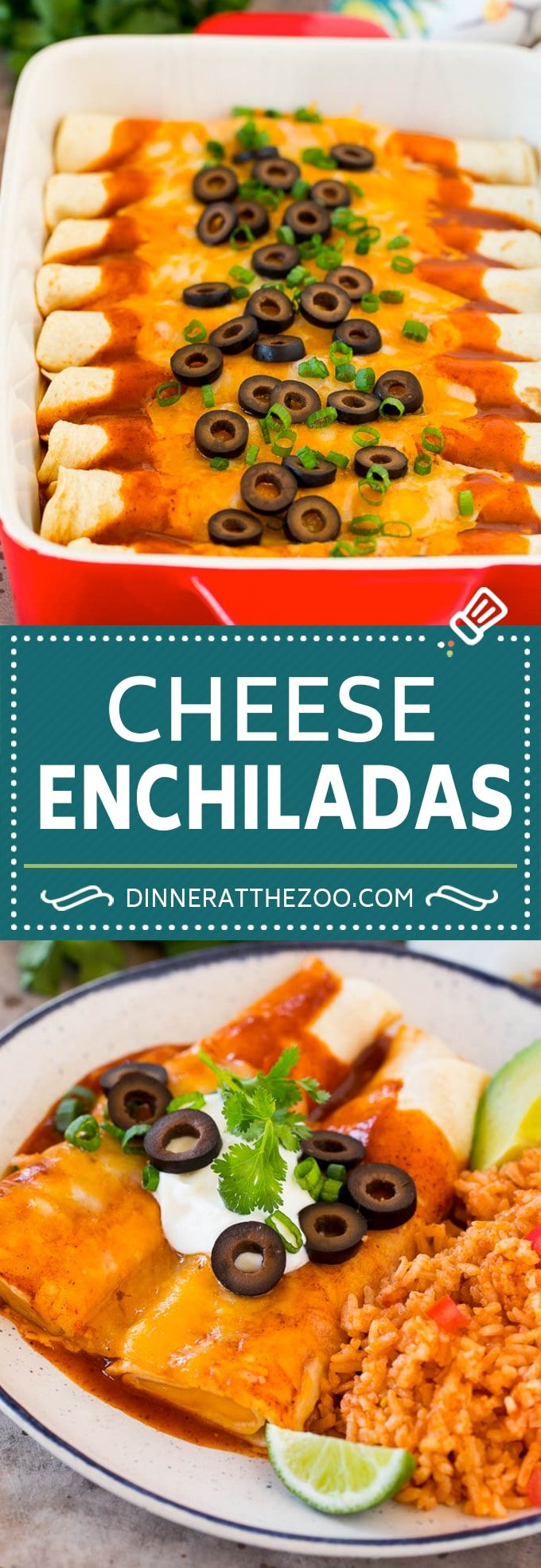 This recipe for cheese enchiladas is rolled flour tortillas filled with cheddar and Monterey Jack cheeses, then topped with red sauce and more cheese and baked to golden brown perfection.