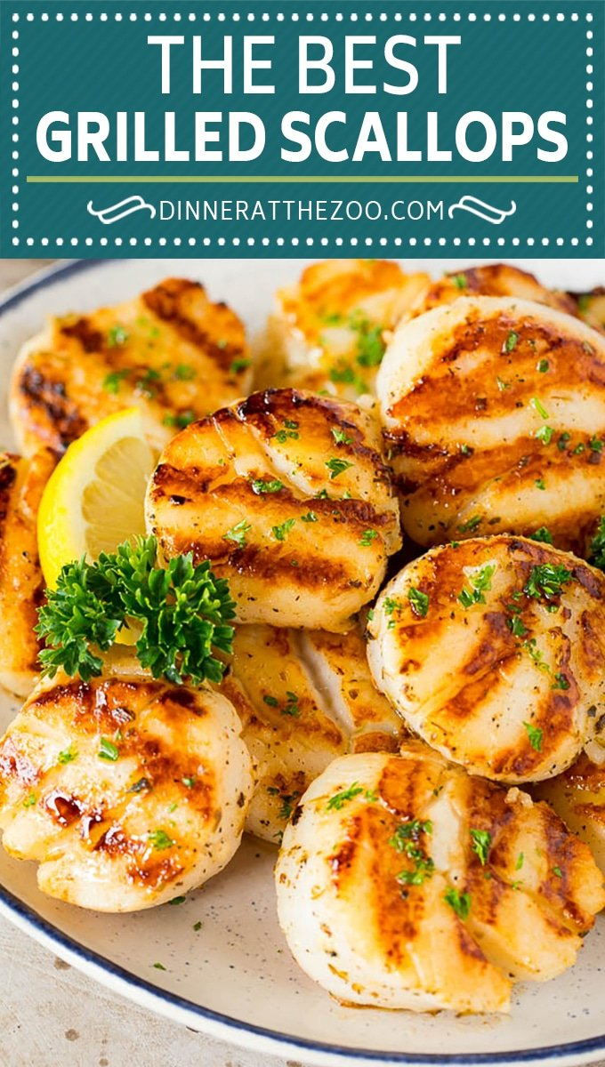 These grilled scallops are marinated in a blend of olive oil, lemon, garlic and herbs, then seared to golden brown perfection on the grill.