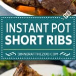These Instant Pot short ribs are flavorful beef ribs cooked with vegetables and seasonings until tender.