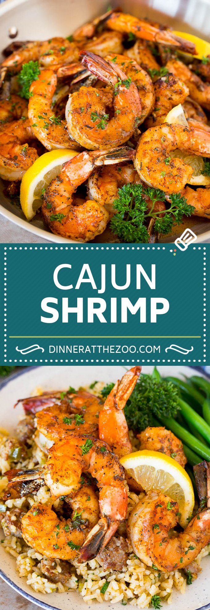 This Cajun shrimp recipe is large shrimp coated in butter, lemon and seasonings then seared to perfection.