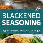 This blackened seasoning is a blend of herbs and spices that are combined to produce a savory rub that takes minutes to put together.