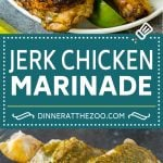 This jerk chicken marinade is a combination of olive oil, lime juice, fresh herbs, hot peppers and plenty of spices, all blended together to produce tender and juicy chicken every time.