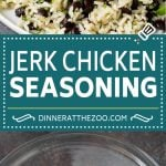 This homemade jerk seasoning is a blend of herbs and spices that creates a complex and bold flavor.