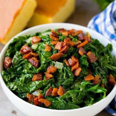 Mustard Greens with Bacon