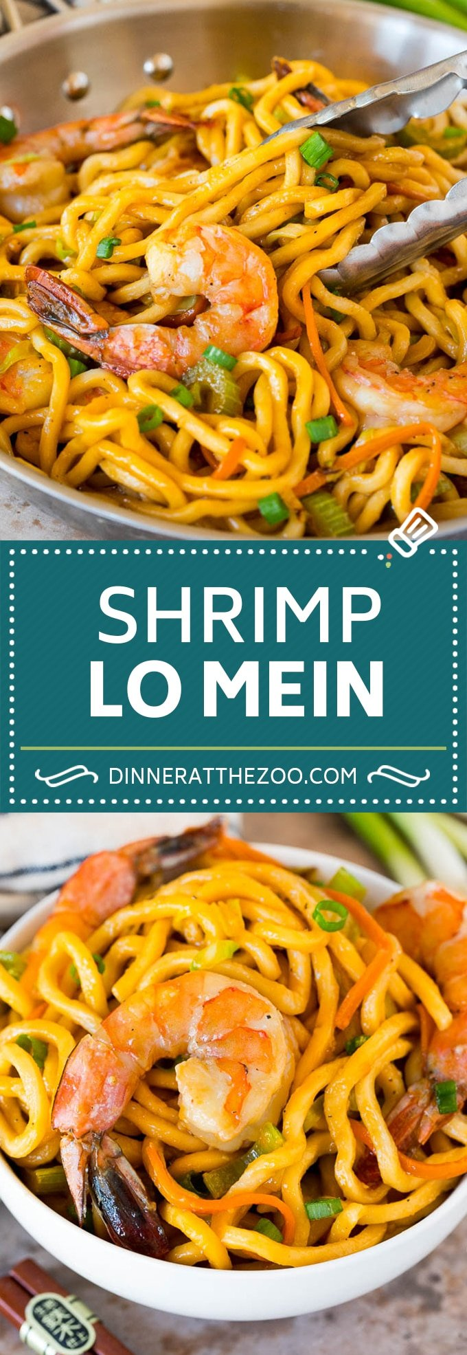 This shrimp lo mein is succulent shrimp with vegetables and egg noodles, all tossed together in a savory sauce.