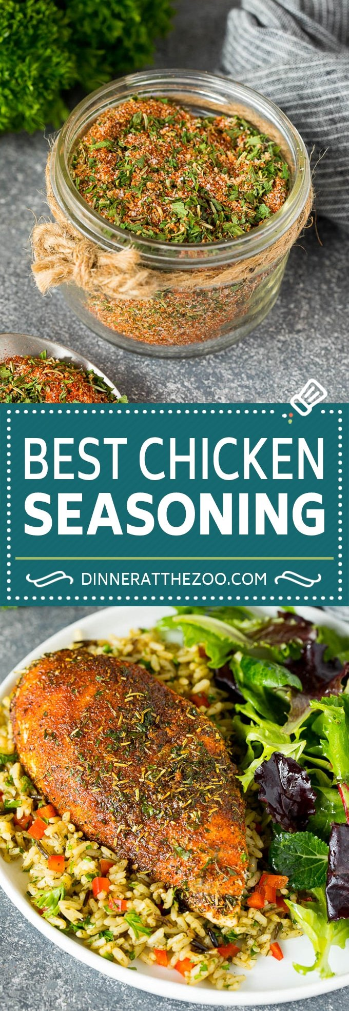 This chicken seasoning is the perfect blend of herbs and spices that produces flavorful and juicy chicken each and every time.