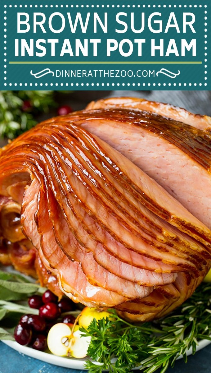 This Instant Pot ham is a spiral ham coated in a 3 ingredient glaze, then pressure cooked to tender perfection.