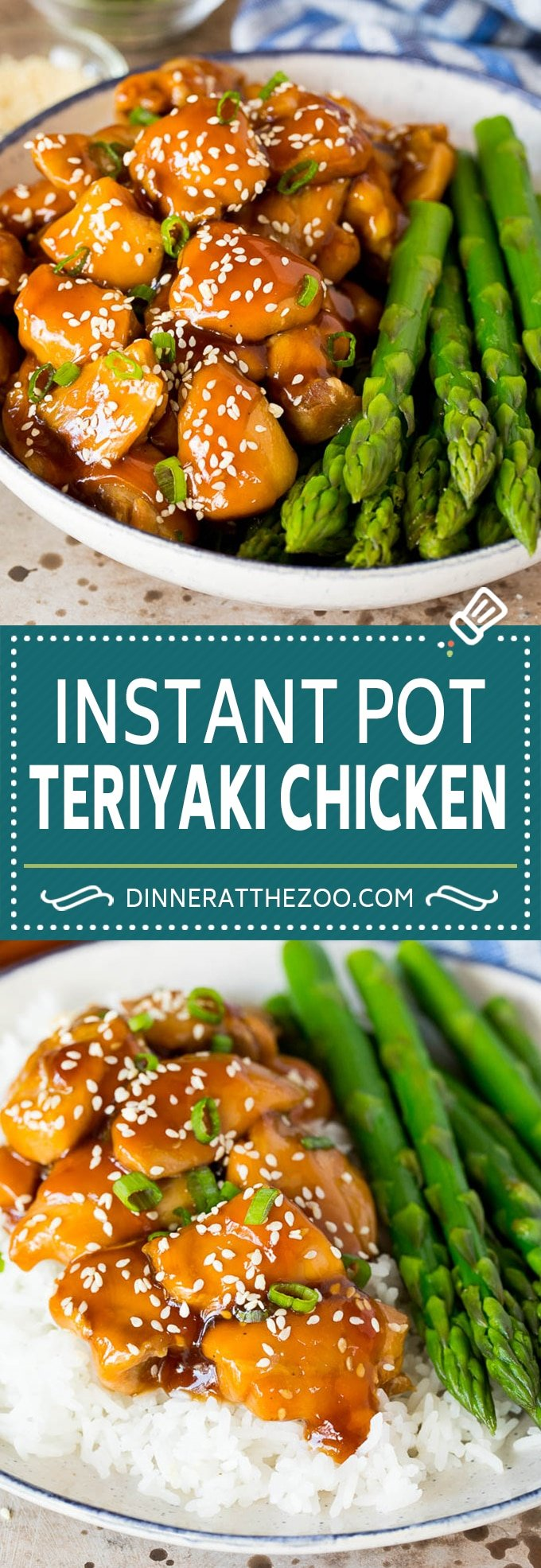 This Instant Pot teriyaki chicken is chicken thighs pressured cooked in a homemade sweet and savory teriyaki sauce.