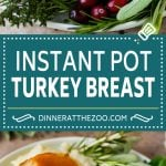 This Instant Pot turkey breast is seasoned with butter, garlic and herbs, then pressure cooked to tender and juicy perfection.