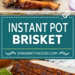 This Instant Pot brisket is beef coated in a homemade spice rub, then pressure cooked with BBQ sauce until perfectly tender.