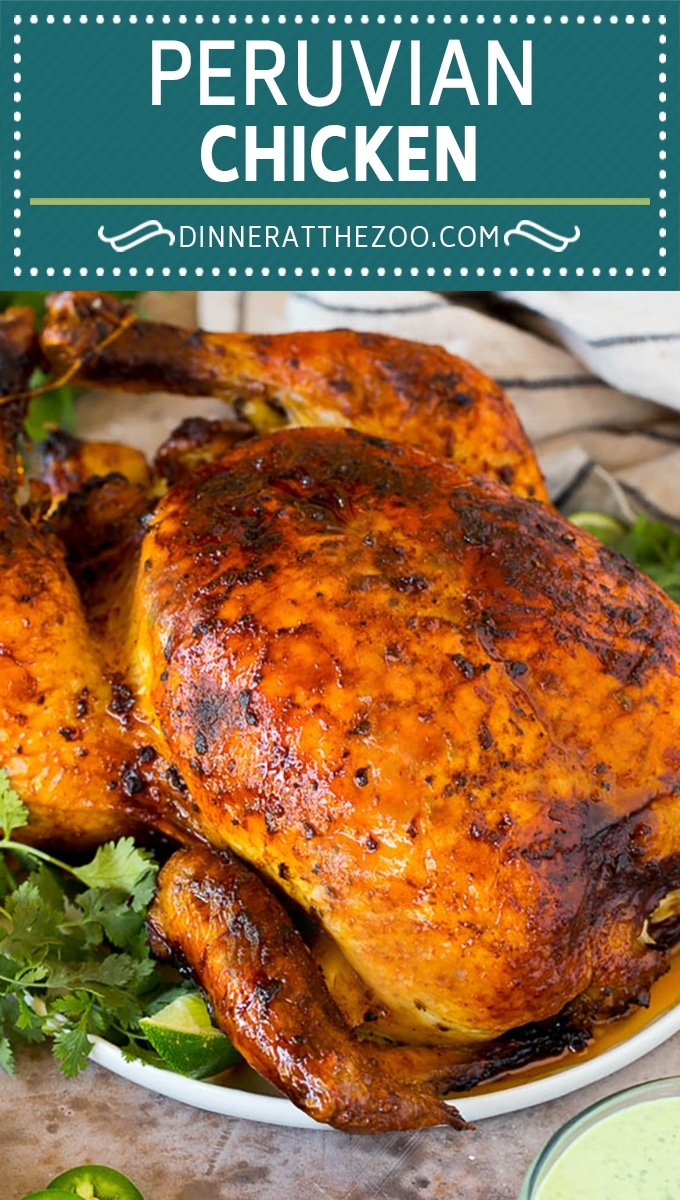 This Peruvian chicken is a whole chicken marinated in a zesty variety of herbs and spices, then roasted to golden brown perfection.