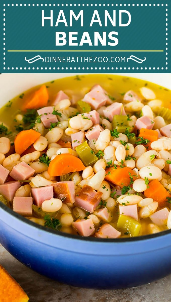 This ham and beans recipe is the best way to use up leftover ham!