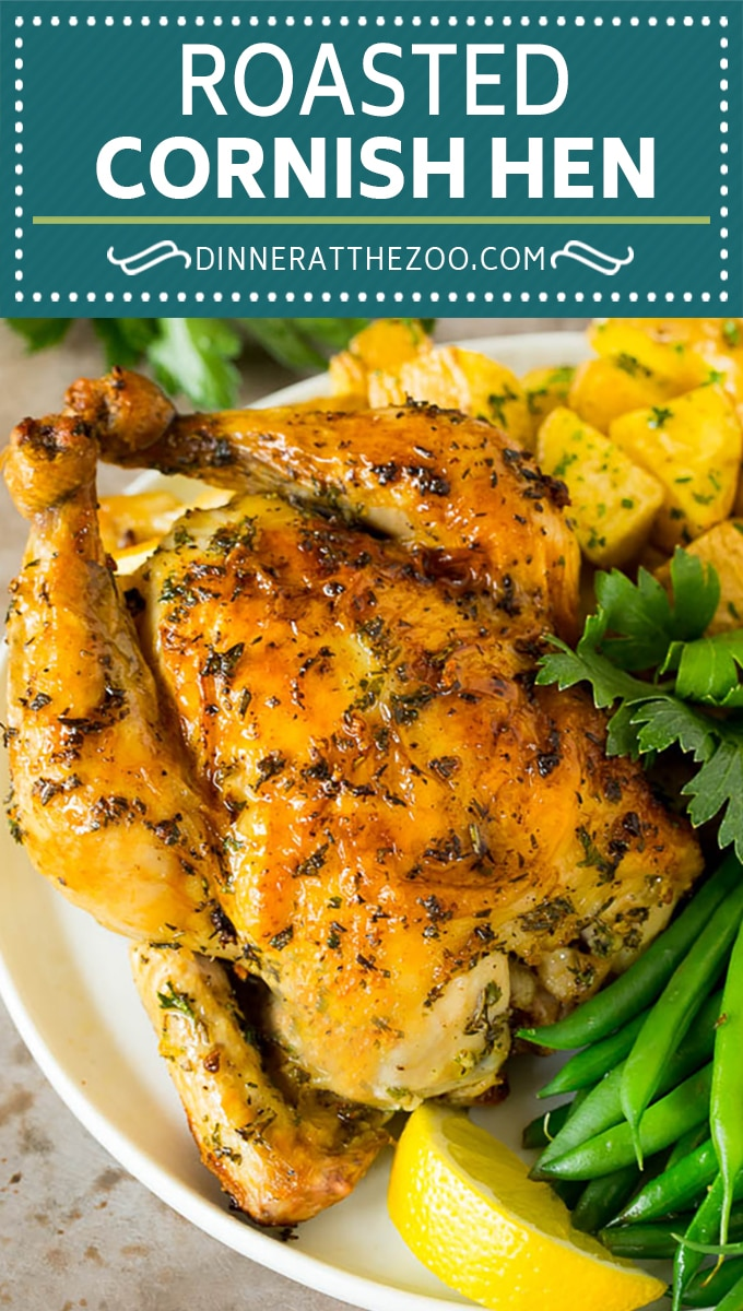 This roasted Cornish hen recipe is an easy and elegant way to make a meal that's quick enough for a busy weeknight, yet fancy enough for a special occasion.