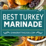 This turkey marinade is a combination of olive oil, fresh herbs, spices and citrus, all blended together to make the most tender and juicy turkey ever!