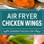 These air fryer chicken wings come out perfectly crispy every time, and cook so much faster than they would in a traditional oven.