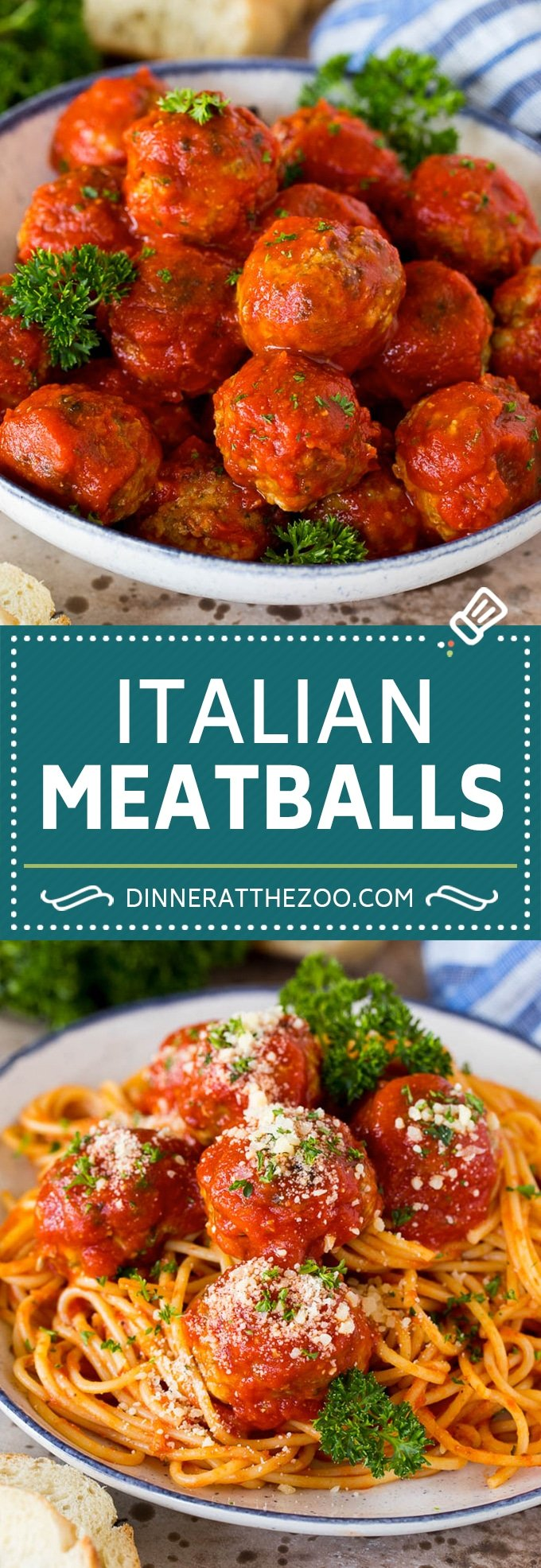 The best Italian meatballs with a blend of two types of meat and the perfect amount of herbs and spices.
